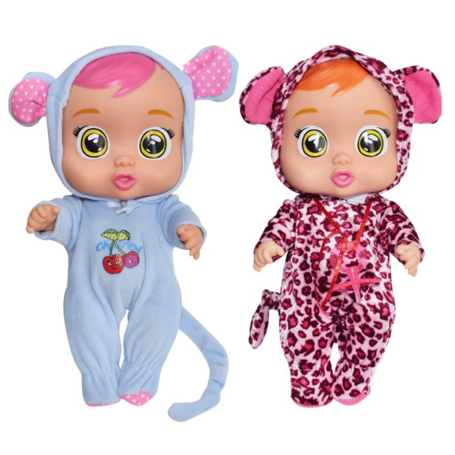2019 cute baby Evade glue silicone <strong>doll</strong> surprise crying <strong>doll</strong> puzzle play with children's toys <strong>doll</strong>