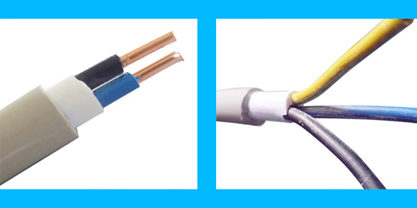 Flat Conductor Cable : Flat cable bvv solid conductor pvc insulation