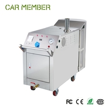Mobile lpg steam car wash machine, 10Bar heavy duty steam jet car wash for door to door cleaning services