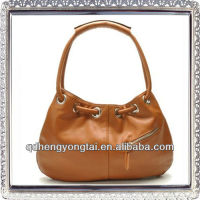 HOT! new design fashion pu brown ladies and woman handbag factory
