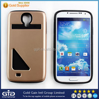 Credit Card Slot TPU+PC Protective Case For Samsung For Galaxy S4 I9500