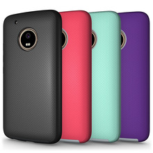 Shock Proof PC Silicon Phone Cover Hard Case for Moto G5 plus