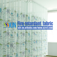 Fashion latest designs fire-retardant fabric, anti-bacterial medical partition curtain