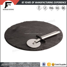 Refined groove work crafts slate stone material products black plates special dinner tray