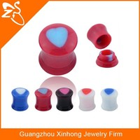 fashion UV ear piercing plugs, acrylic ear cap dust plug,body ear piercing