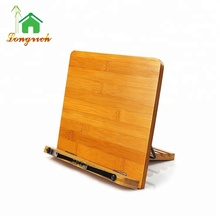 convent high quality best hot sell simple popular read useful menu wooden Bamboo Cook Wooden Laptop Book Stand Tablet Holder