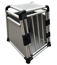 Aluminium transport dog cage/round tube carrier