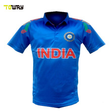 customized india new model cricket jersey 2016