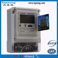 lcd display prepaid electric meter prepayment power meter