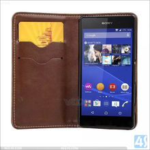 Protector Cover Leather Wallet Phone Case for Sony Z5 Compact With Card Slot