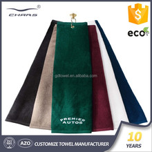 Guangzhou textile cheap wholesales hot microfiber hook sport custom golf towel,personalized golf towels