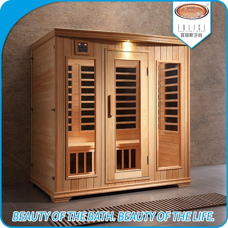 4 person use Far infrared sauna room with FM Radio