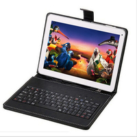 "New 2016 FreeShip 10.1"" inch Quad Core Android 4.4 1GB / 8GB /16GB Tablet PC APP Play USB Bluetooth WIFI with Gift Keyboard Case"