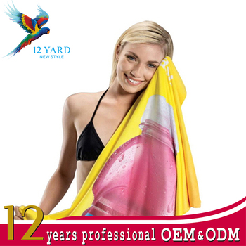 wholesale travel custom 3D Digital Printing quick dry fit Instant microfiber cooling towel