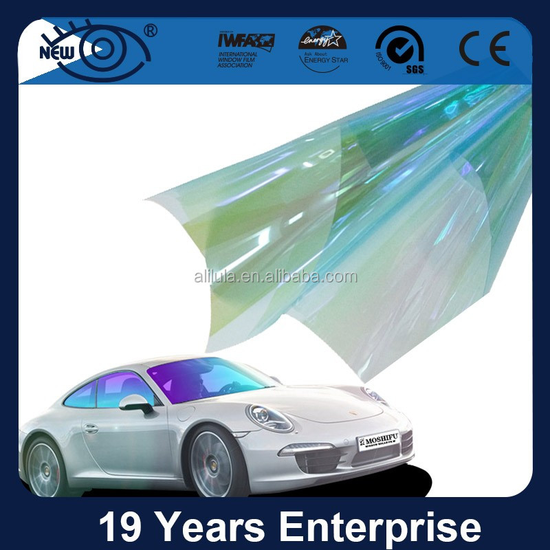Hot sale bf blue chameleon film for windows ,auto window solar control window tint