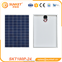 High efficiency and transfer 180 watt poly solar module for 1KW solar panel system with full certification
