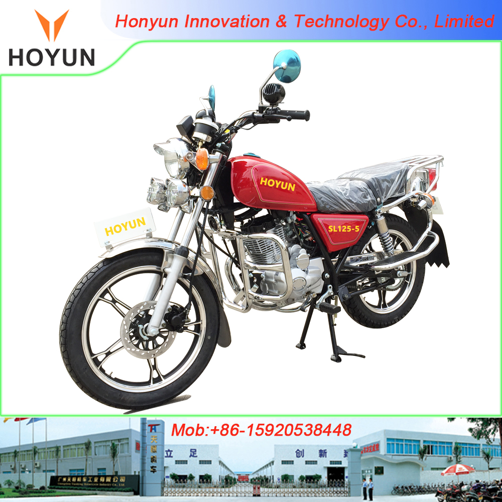 Hot sale in Tanzania with MP3 big rear luggage carrier bumper three headlight SANLG Fekon STAR GN GN125 GN150 motorcycles
