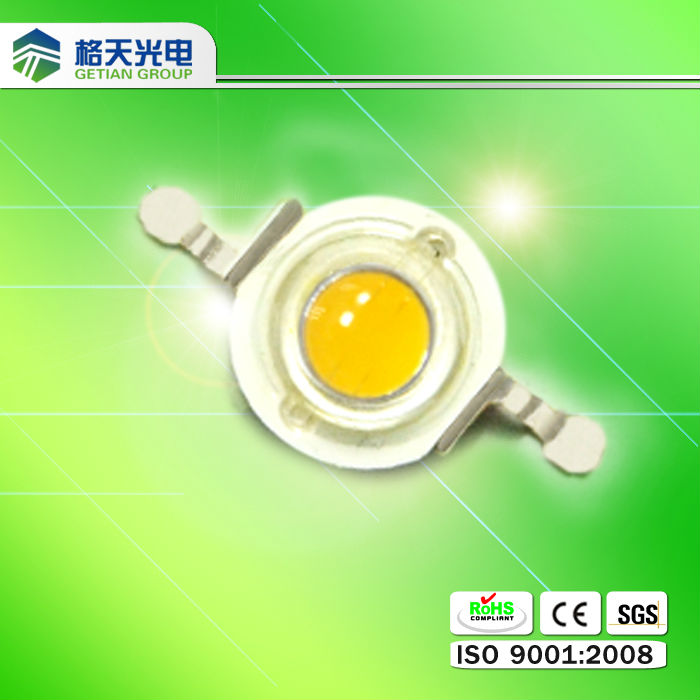 1W warm white high power led /emitter /diode