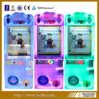 indoor amusement coin operated Happy Childhood kids simulator toy claw crane machine