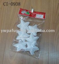 plastic star christmas decoration
