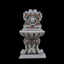 Customizable greek figure mixed colored marble water fountain for sale