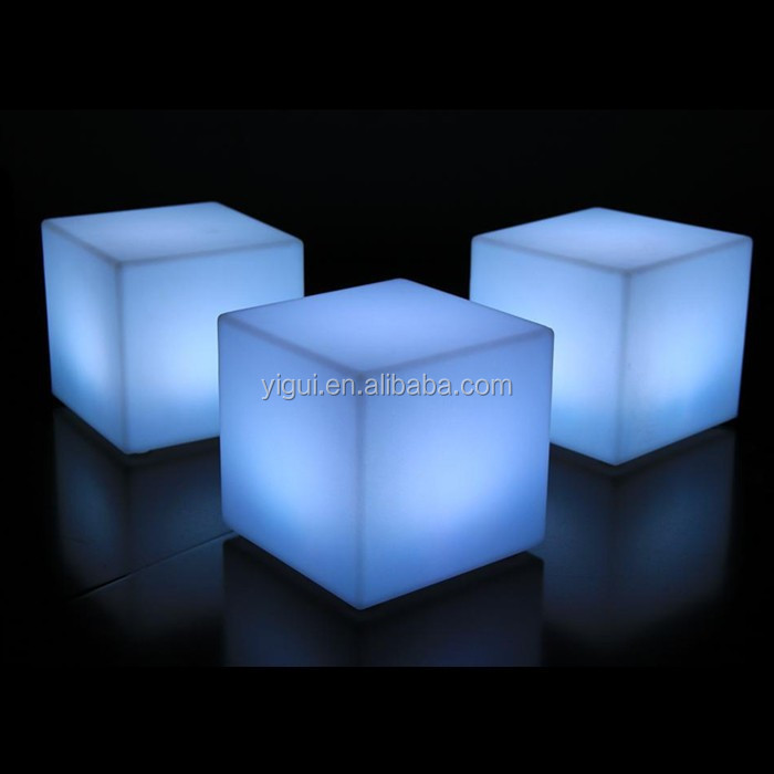 Wonderful Chair magic change color light/plastic chair illuminated LED cube