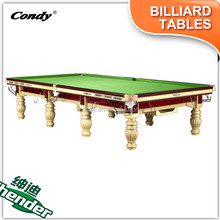 Shender Lifttime warranty High Quality tounament Fashion Star 12ft Snooker Table Price