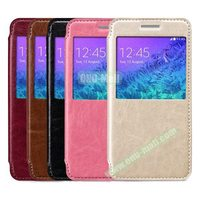 Folding Style Shockproof Flip Cover Leather Case for HTC One M9 with Display Window