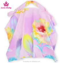 Fashional Flower Cotton Blend Nursing Cover, Outdoor Breastfeeding Nusing Cover LBF2015122615