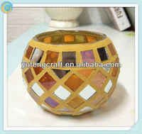 factory wholesale mirror mosaic candle holder