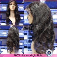 No tangle no shedding body wave 10-32inch human hair wigs light brown