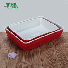 Professional supplier ceramic oven safe baking dish baking tray