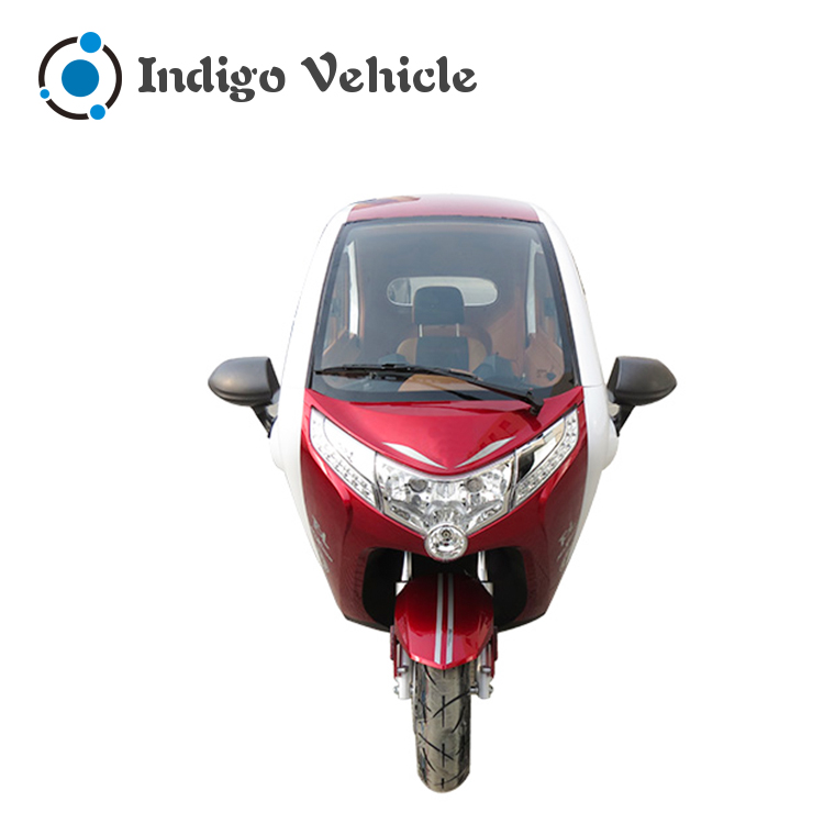 Three Wheel Enclosed Electric Motorcycle Truck Tricycle with Passenger Seat