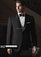 Customized One Button Groom Wedding Suits With Satin Collar Terno Novio (Jacket+Pants+Bow) WD002 pictures of men wedding coats