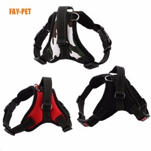 Luxury patent design dog pet harness vest custom print logo padded no pull large dog harness