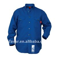 button High visibility reflective flame retardent security guard uniform shirt(long sleeve )