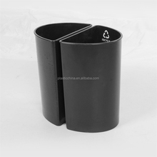 ABS fire resistant plastic twin dustbin for hotel