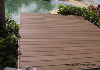 WPC decking High quality made in Japan/ 145mm*30mm Brown Screws type composite plastic Trit wood compsite outdoor flooring