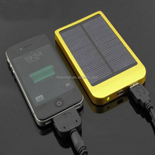 With Aluminum UV casing Rechargeable Dual USB External battery Built-in 20000mah solar charger for mobile phone