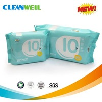 2015 hot sell chemical-free Baby wet wipes with 80pcs soft &gentle skincare&health wet tissue