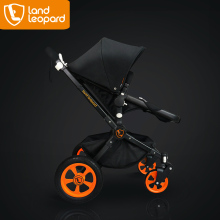 Baby doll carriage manufactured by the Land leopard baby stoller brand to supplied with strong wheels to provide the safety