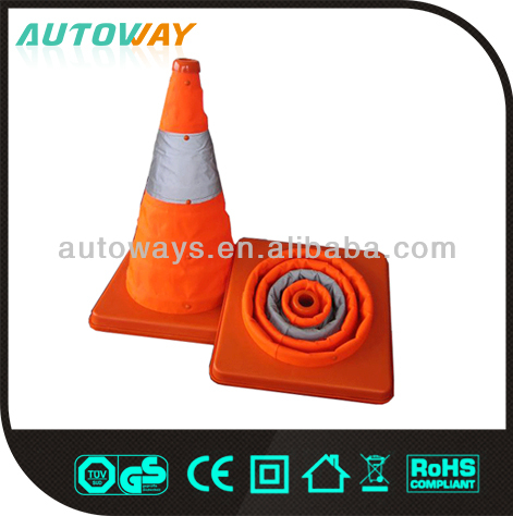 750mm orange small safety foldable traffice cone