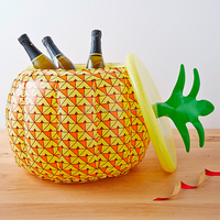 Wholesale Inflatable Pineapple Clooer Pvc Fruit Shape Ice Bucket Portable Beer Cooler