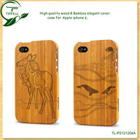 2013 New Design hot selling Bamboo wood Case For iPhone 4 4g, Smart Case Cover For iPhone 4