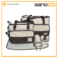 China hot sale mommy bag sets, hanging baby love diaper bag