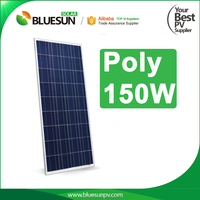 25years warranty polycrystalline silicon material panel solar 150w for solar street lights