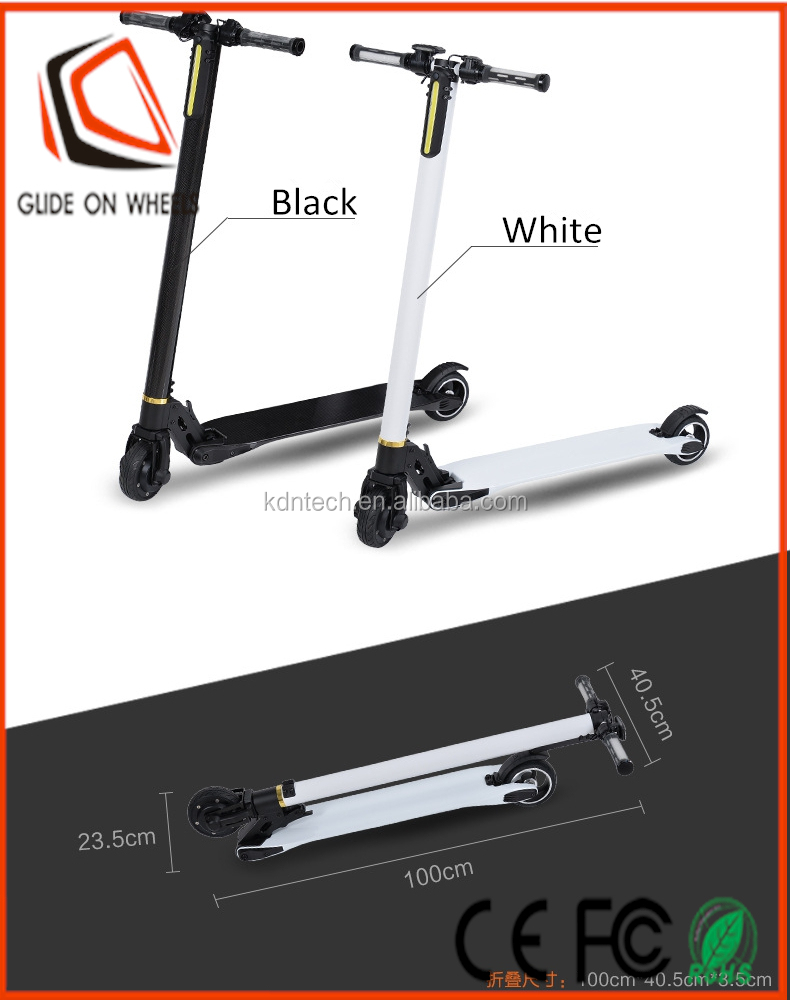 250 watt 24v folding carbon fiber or aluminium alloy electric scooter