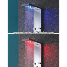 2014 popular sanitary ware - cUPC approval #304 stainless steel Shower panel with LED light S9022