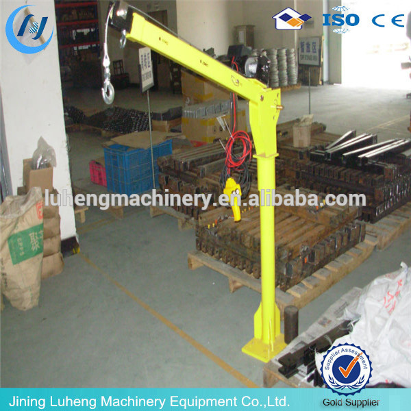 small mini used portable hydraulic swing arm lift crane