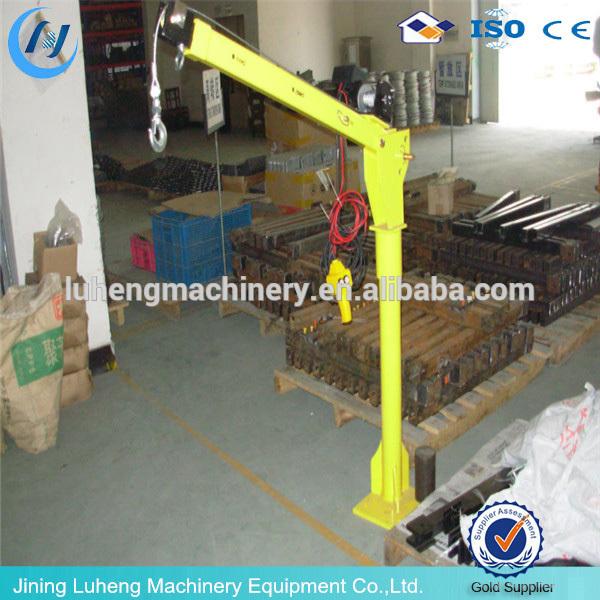 Portable Pneumatic Lift Arms : Small mini used portable hydraulic swing arm lift crane